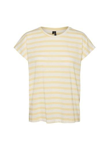 Fabrika Copenhagen Fabrika x Copenhagen Çizgili Sarı T-Shirt Sarı